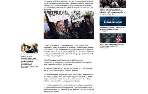 Libérer la parole des femmes, objectif de Denis Mukwege et d'Inna Shevchenko – Franceinfo